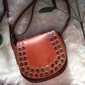 NWT FRYE Cognac Brown Saddle Bag Crossbody